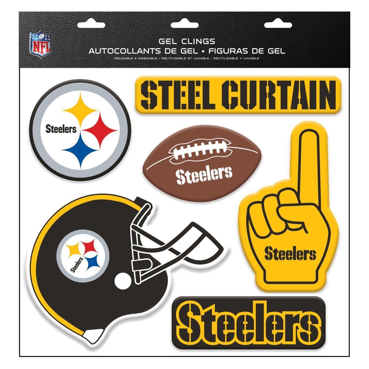 amfoo - NFL Pittsburgh Steelers Aufkleber Multi-Use Deko 6er Set