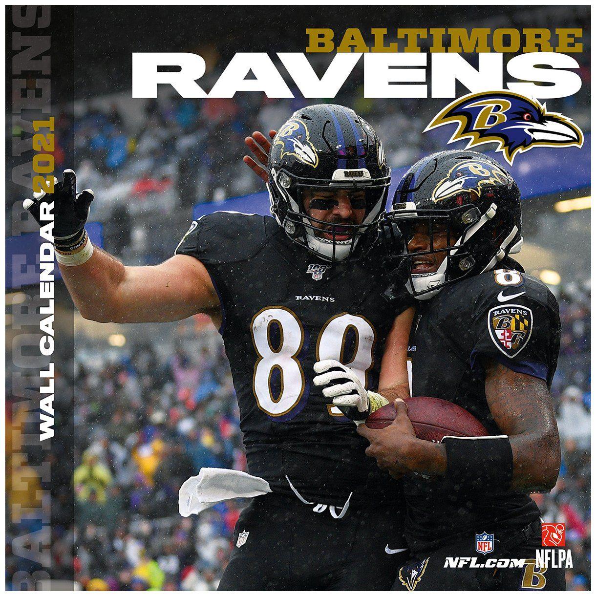 amfoo - Turner NFL 30x30cm Wand-Kalender 2021 Baltimore Ravens