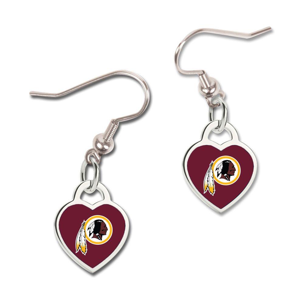amfoo - Wincraft Damen 3D Herz Ohrringe - NFL Washington Redskins
