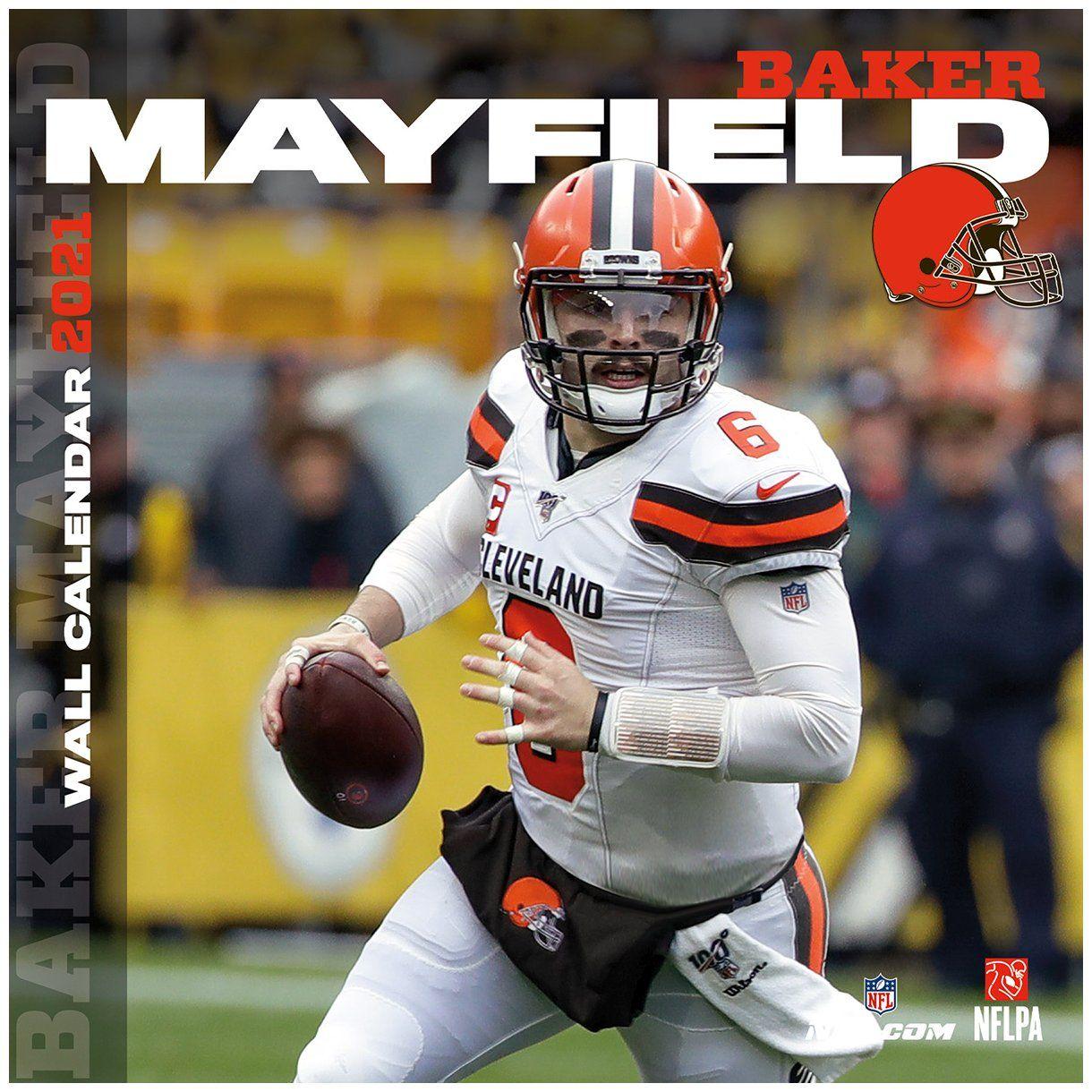 amfoo - NFL Wand-Kalender 2021 Cleveland Browns Baker Mayfield
