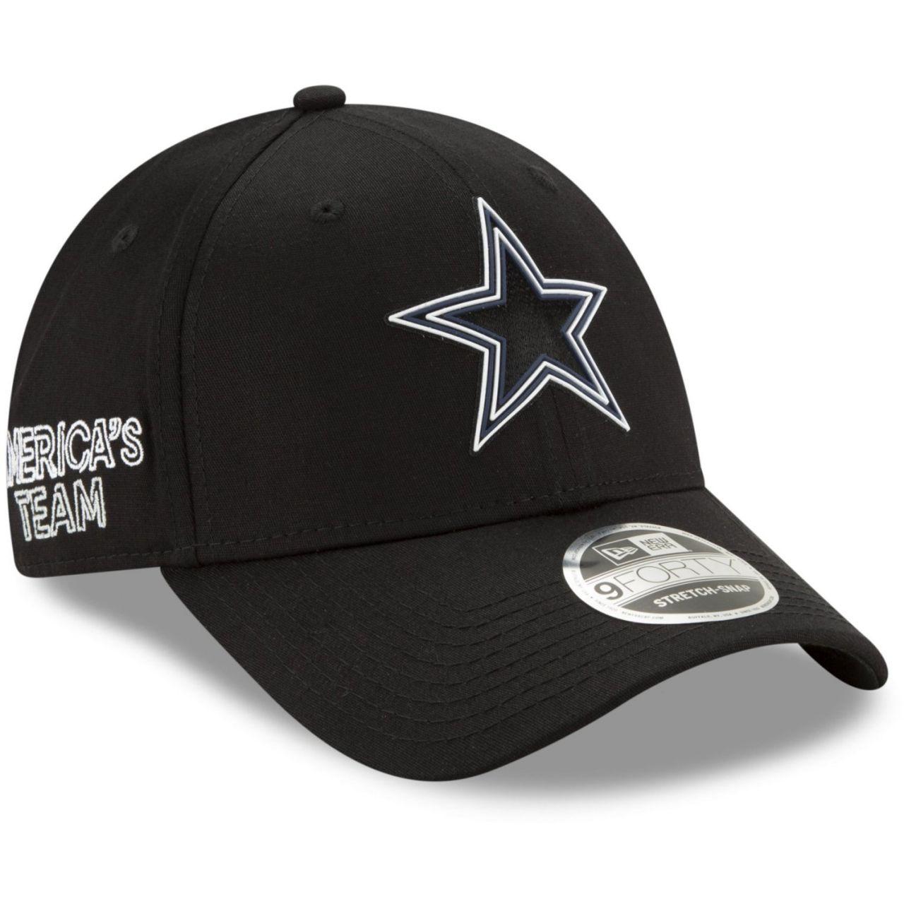 amfoo - New Era 9FORTY Stretch Snap Cap - 2020 DRAFT Dallas Cowboys