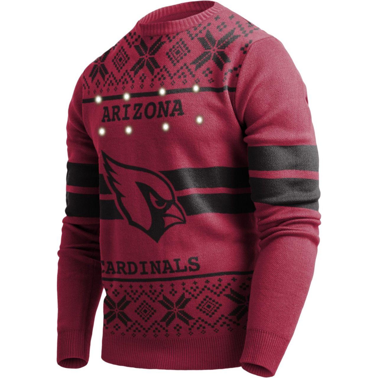 amfoo - LED Light Up XMAS Strick Pullover - NFL Arizona Cardinals