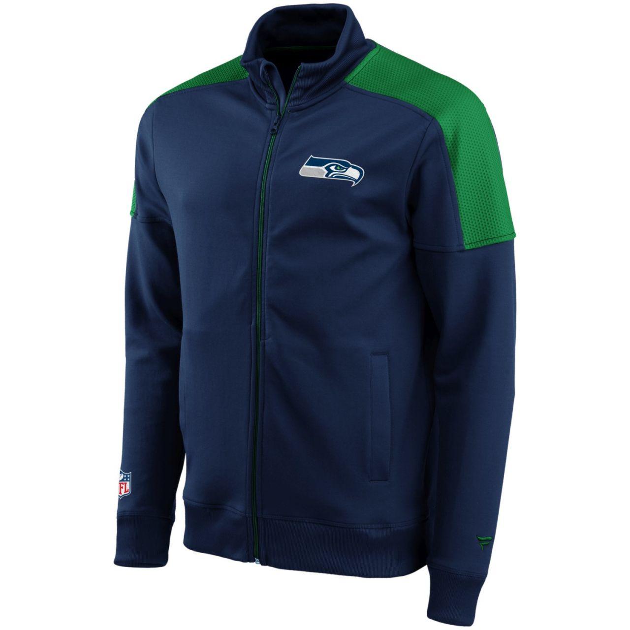 amfoo - Seattle Seahawks ICONIC NFL Track Jacket navy
