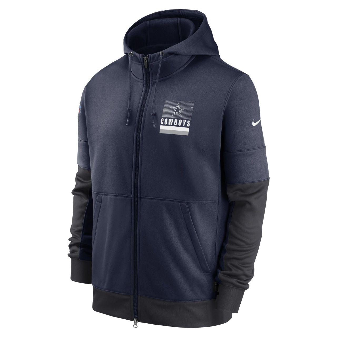 amfoo - Nike NFL Therma Zip Hoody - SIDELINE Dallas Cowboys