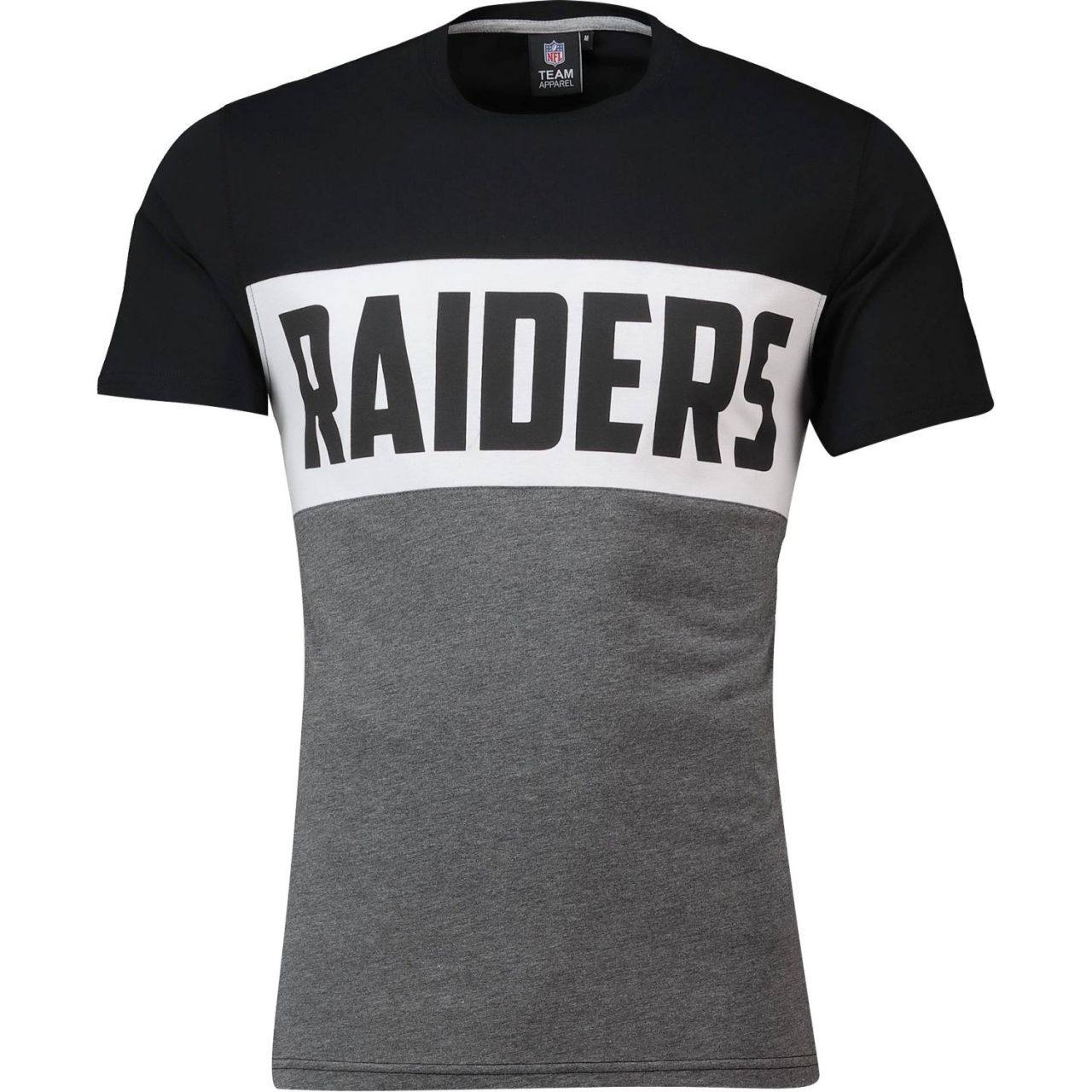 amfoo - NFL Cut & Sew T-Shirt - Oakland Raiders schwarz