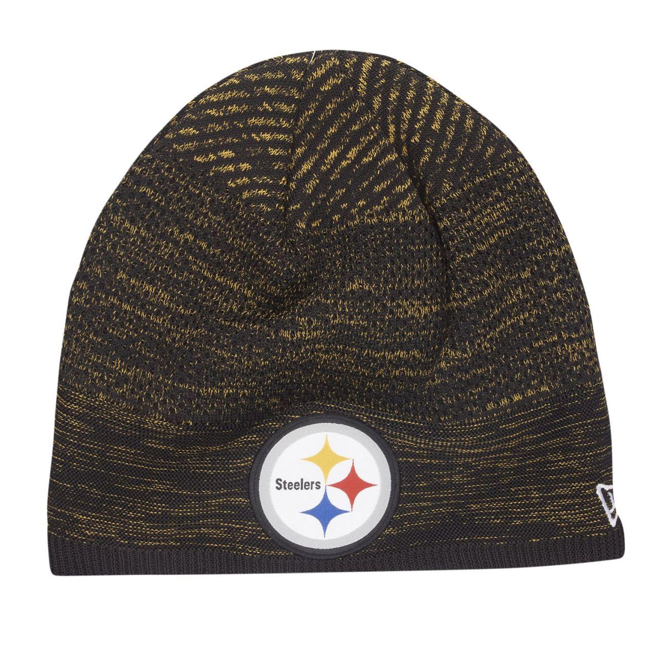 amfoo - New Era TECH KNIT Wintermütze NFL Beanie Pittsburgh Steelers