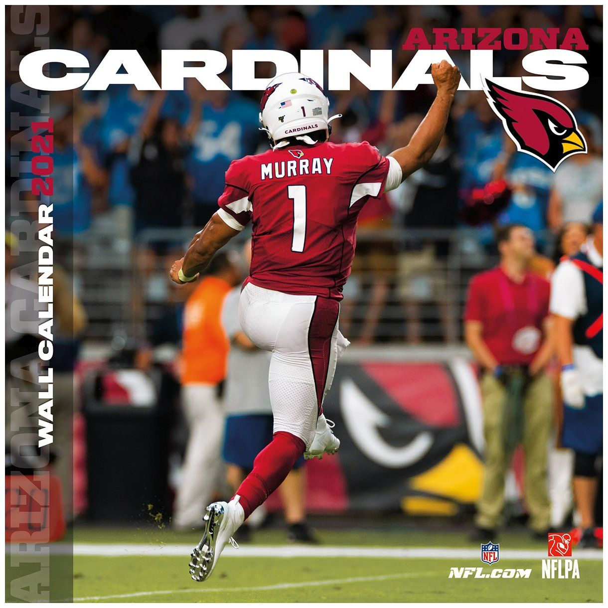 amfoo - Turner NFL 30x30cm Wand-Kalender 2021 Arizona Cardinals