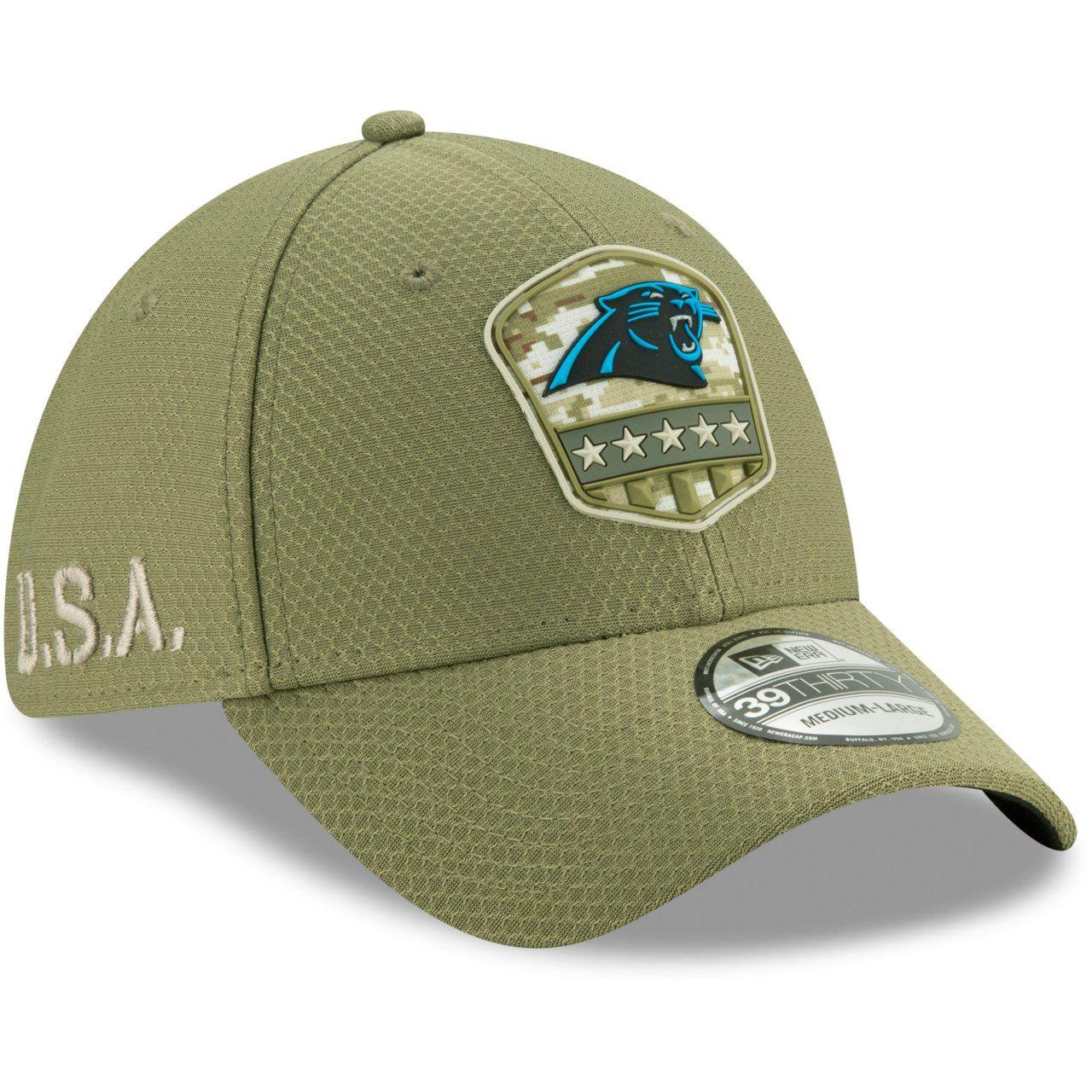 amfoo - New Era 39Thirty Cap Salute to Service Carolina Panthers