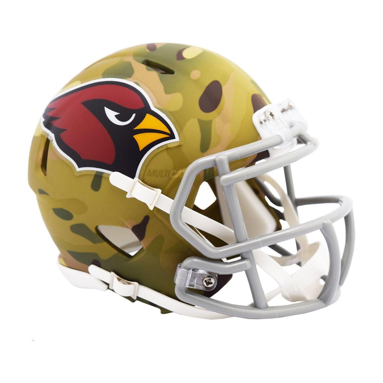 amfoo - Riddell Mini Football NFL Helm MULTICAM Arizona Cardinals