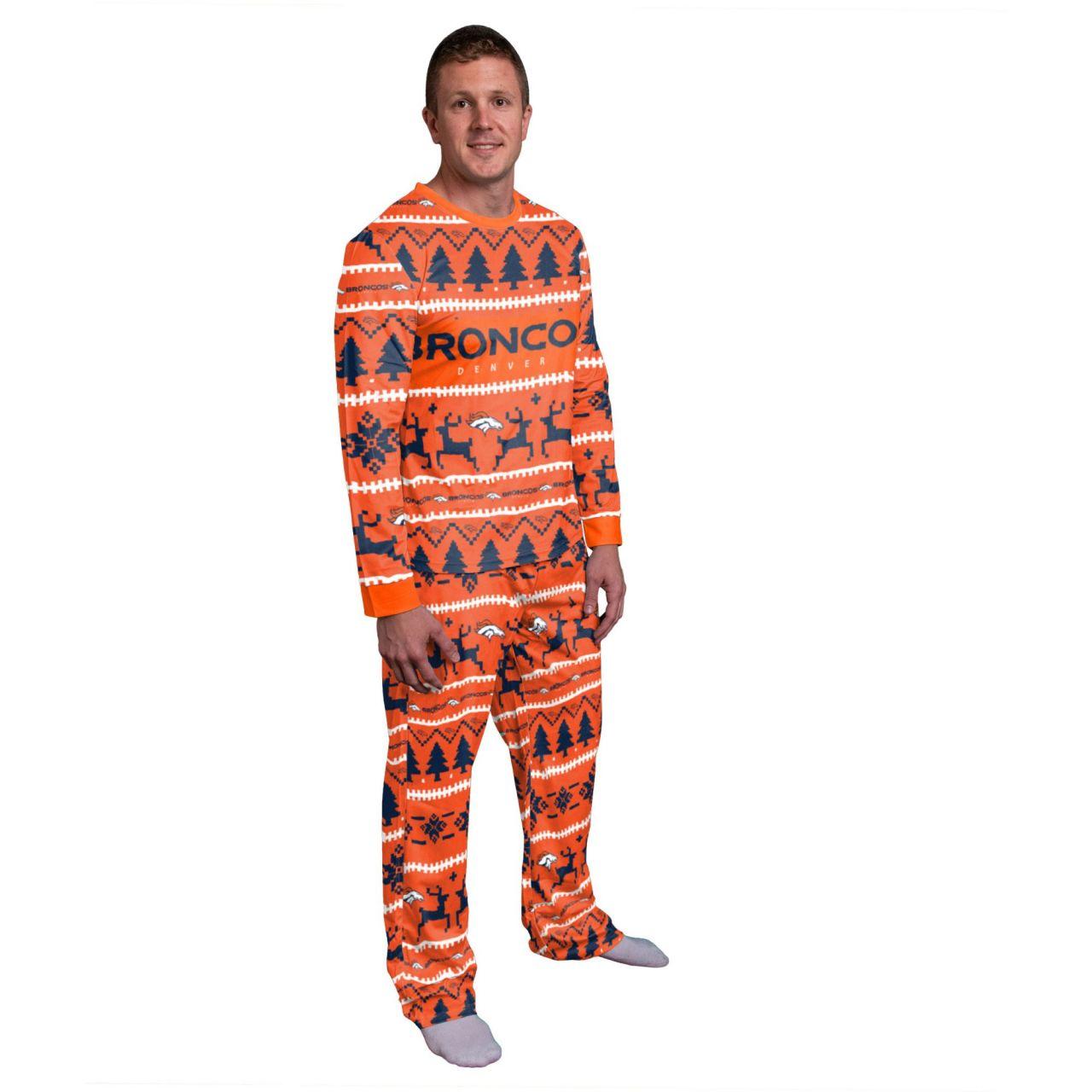 amfoo - NFL Winter XMAS Pyjama Schlafanzug - Denver Broncos