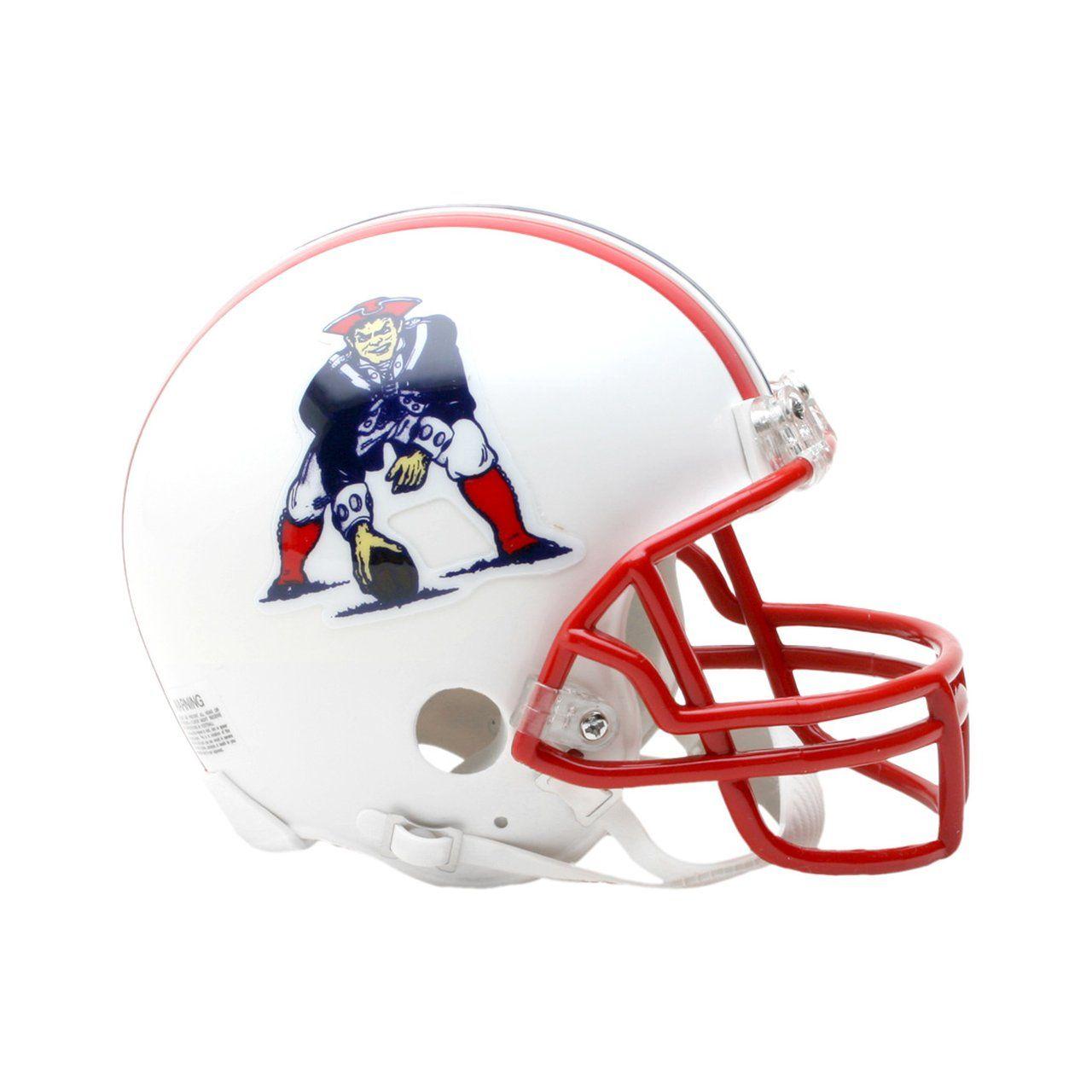 amfoo - Riddell VSR4 Mini Football Helm - New England Patriots 90-92