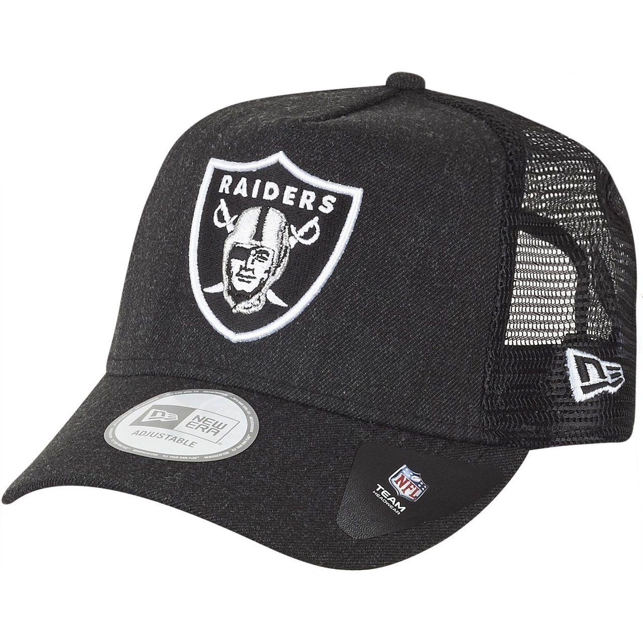 amfoo - New Era Adjustable Trucker Cap - HEATHER Oakland Raiders