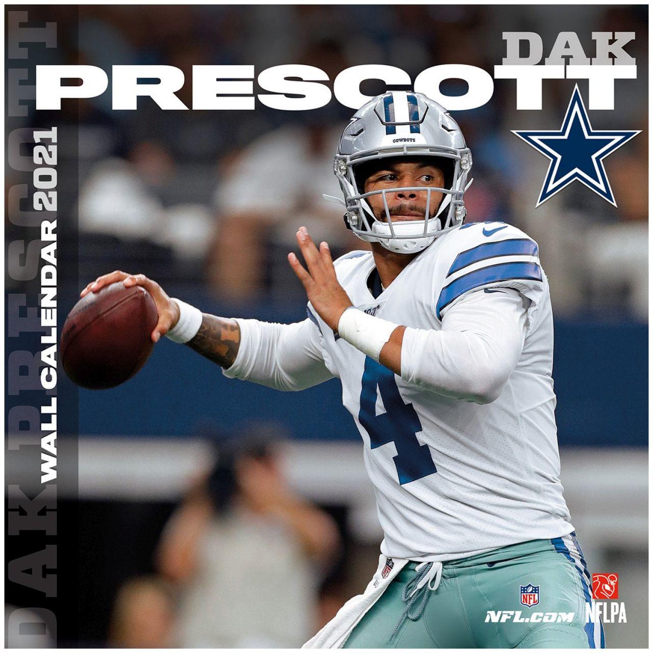 amfoo - NFL Wand-Kalender 2021 Dallas Cowboys Dak Prescott