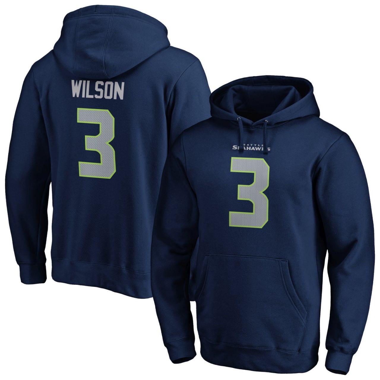 amfoo - Seattle Seahawks NFL Hoody #3 Russell Wilson
