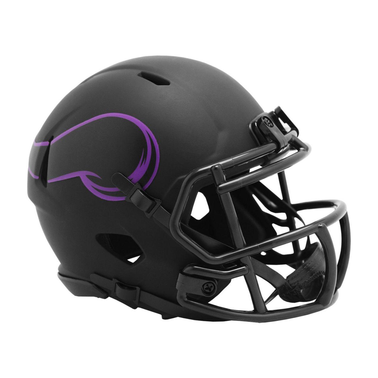 amfoo - Riddell Speed Mini Football Helm - ECLIPSE Minnesota Vikings