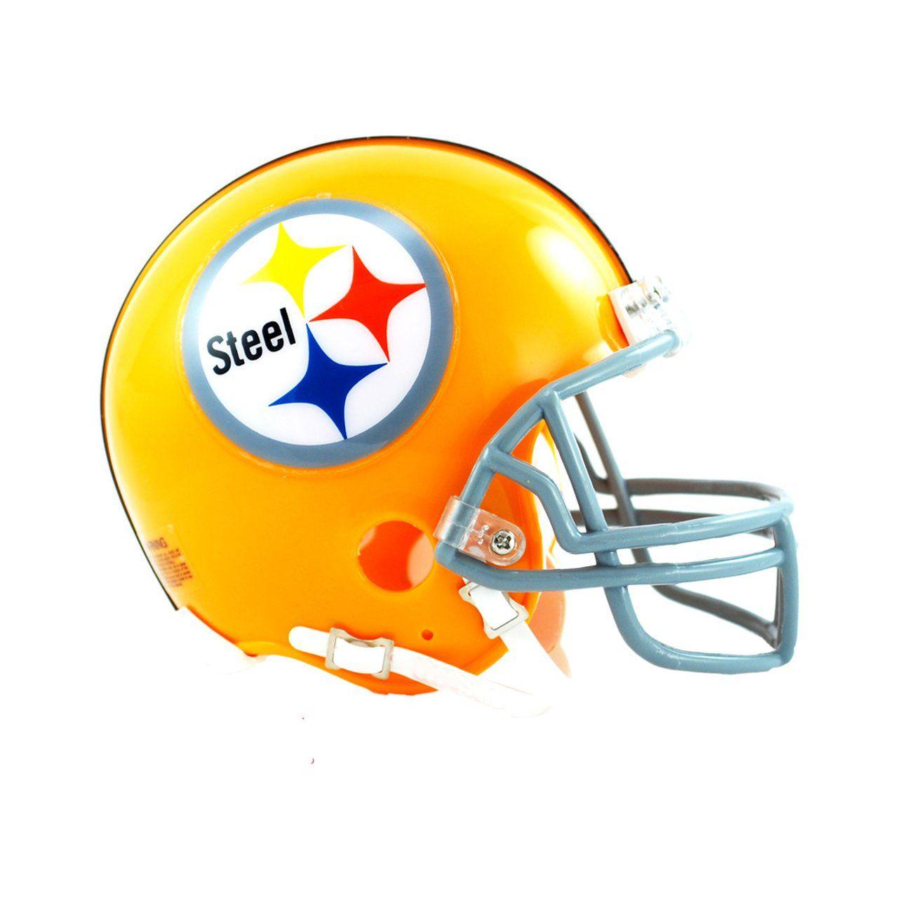 amfoo - Riddell VSR4 Mini Football Helm - Pittsburgh Steelers 1962
