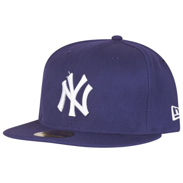 New Era 59Fifty Cap - BASIC New York Yankees purple / weiß