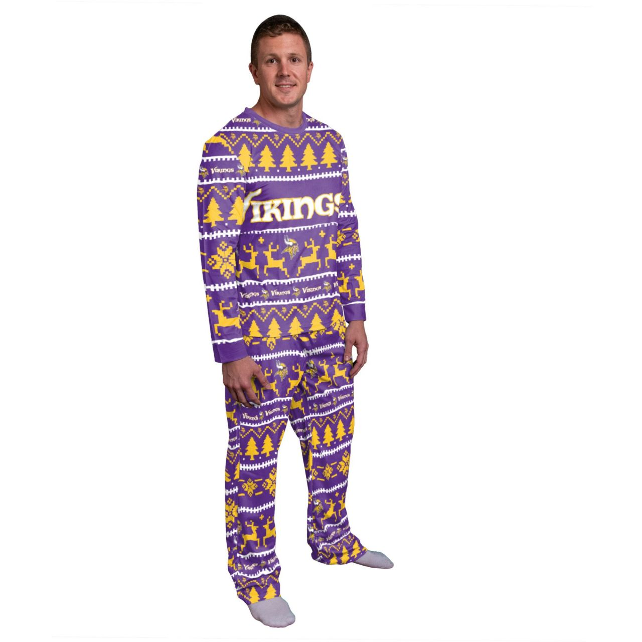 amfoo - NFL Winter XMAS Pyjama Schlafanzug - Minnesota Vikings