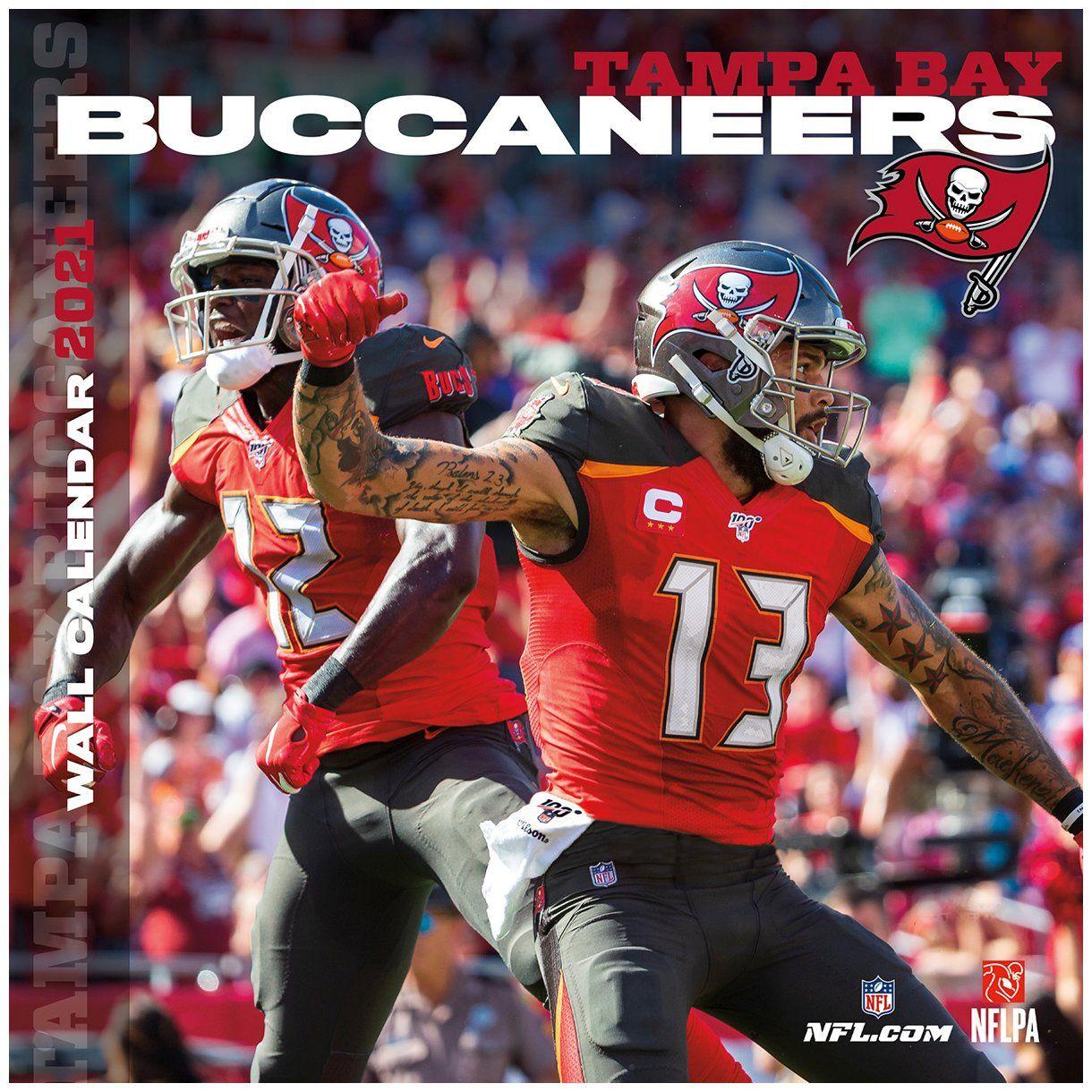 amfoo - Turner NFL 30x30cm Wand-Kalender 2021 Tampa Bay Buccaneers