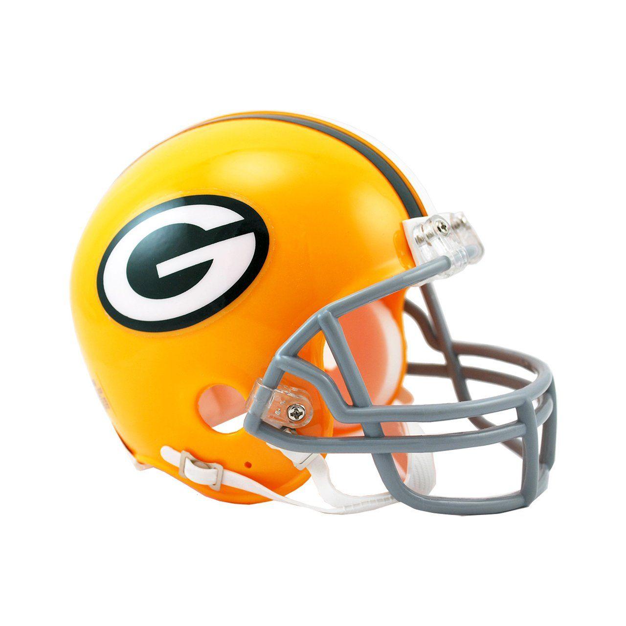 amfoo - Riddell VSR4 Mini Football Helm - Green Bay Packers 1961-79