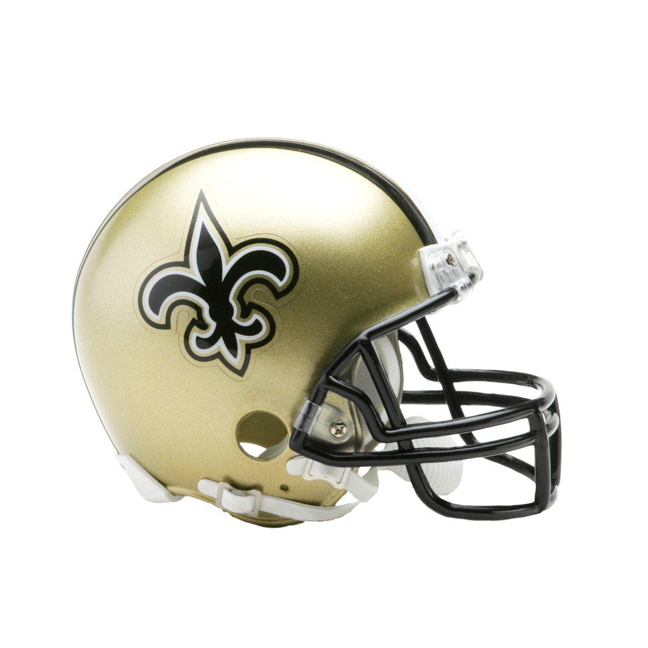 amfoo - Riddell VSR4 Mini Football Helm - NFL New Orleans Saints