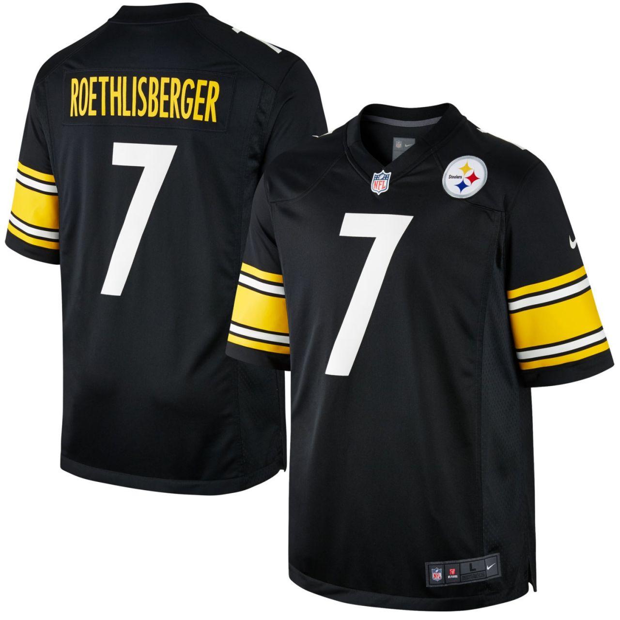 amfoo - Nike GAME Jersey Pittsburgh Steelers #7 Ben Roethlisberger