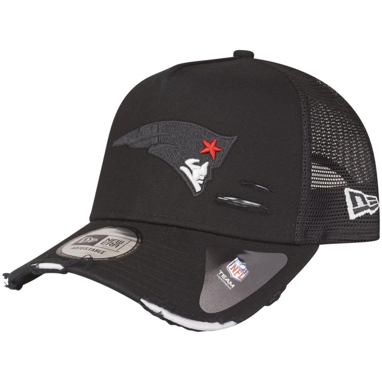amfoo - New Era Mesh Trucker Cap - DISTRESSED New England Patriots