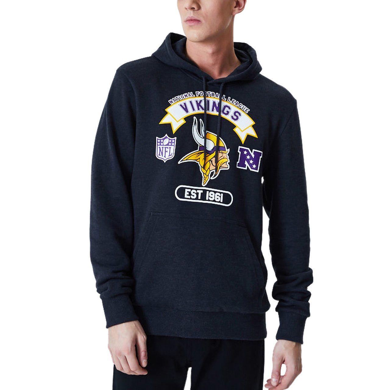 amfoo - New Era GRAPHIC Hoody - NFL Minnesota Vikings charcoal