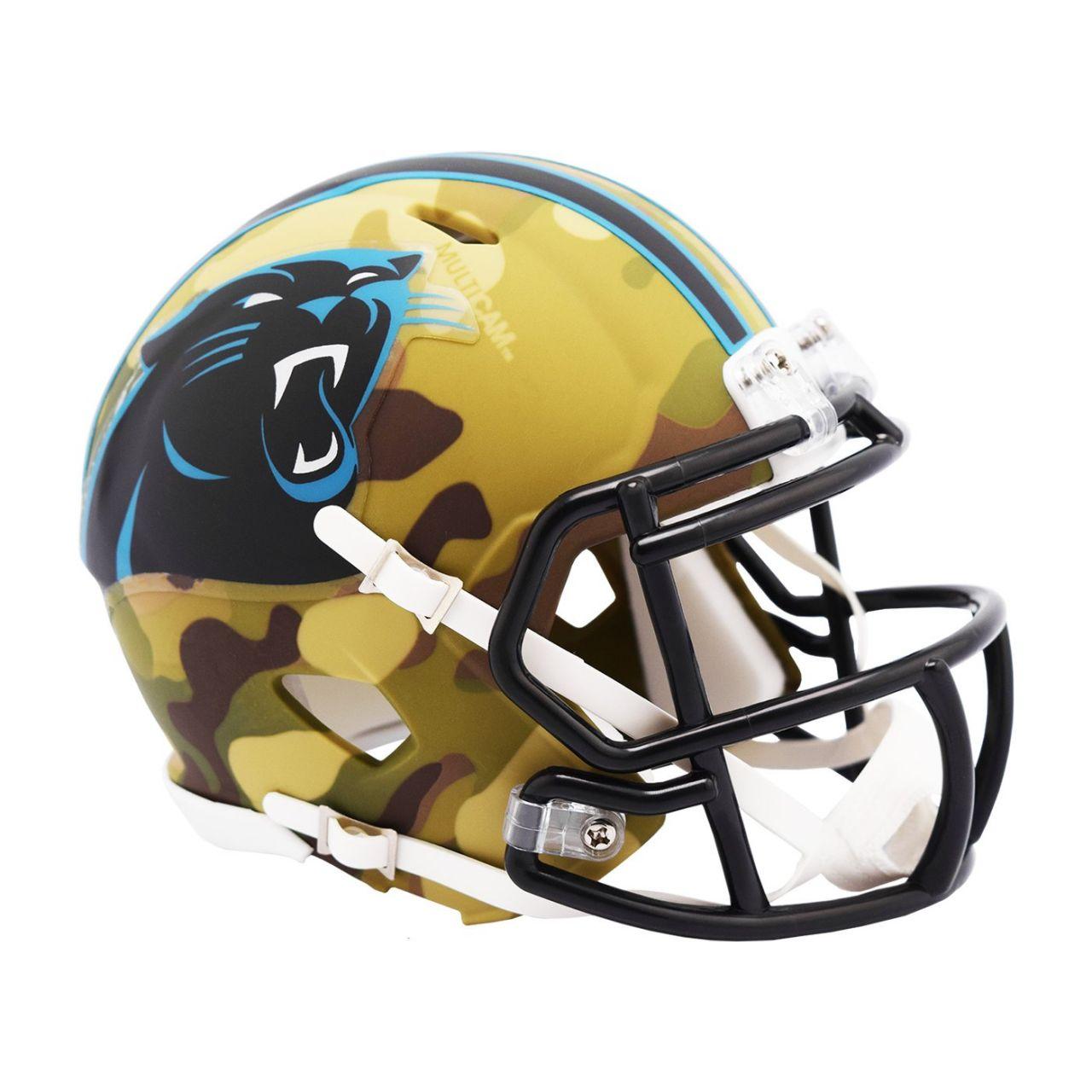 amfoo - Riddell Mini Football NFL Helm MULTICAM Carolina Panthers