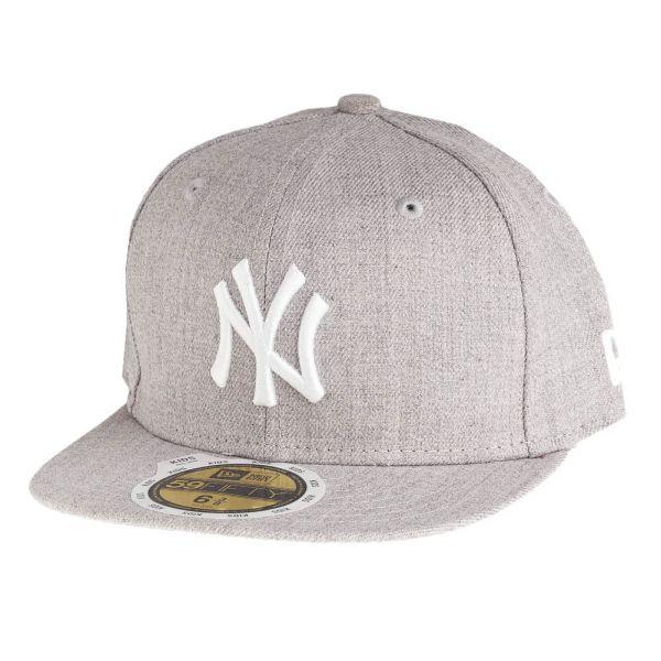 New Era 59Fifty Fitted KIDS Cap - HEATHER NY Yankees grau