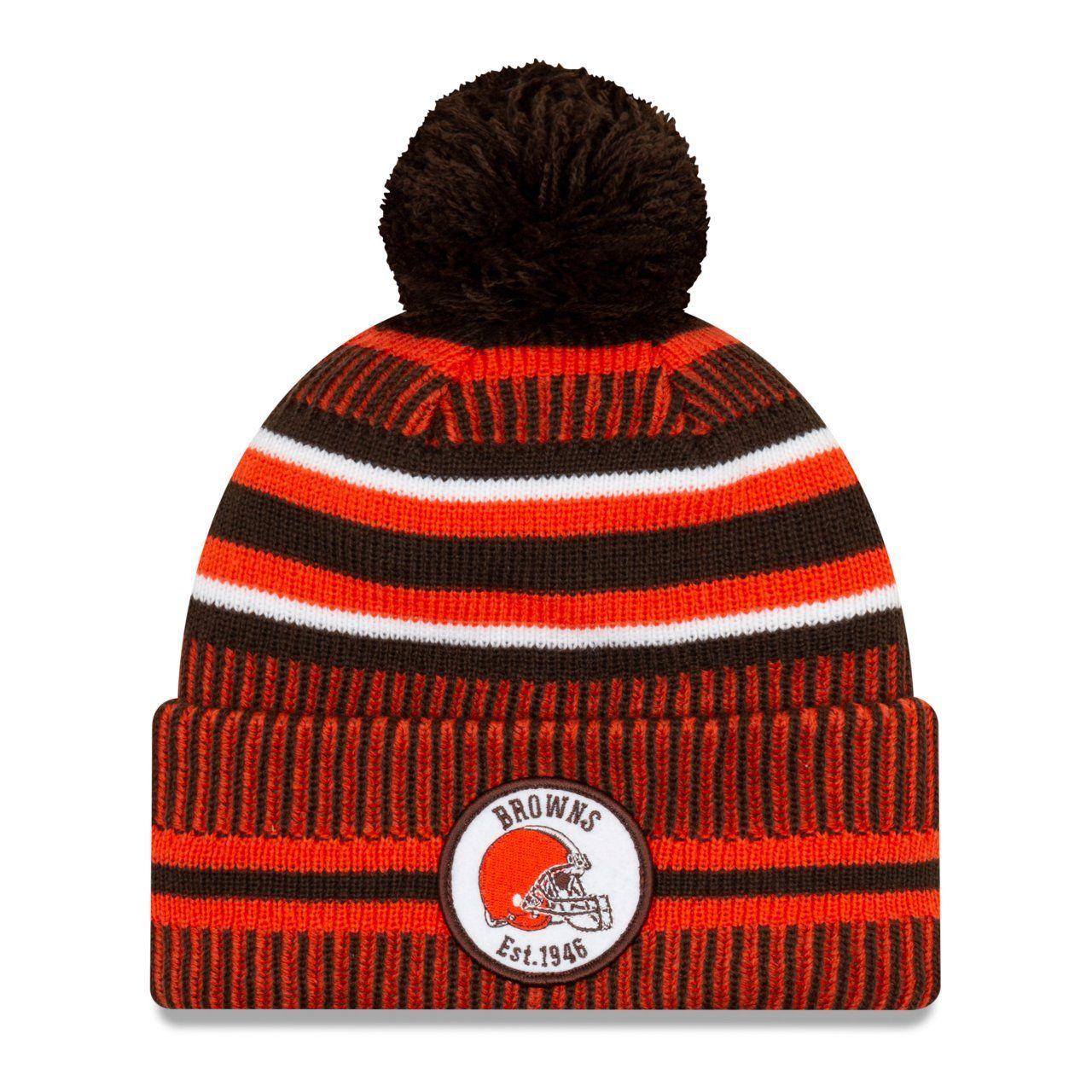 amfoo - New Era Sideline Bommel Kinder Youth Mütze Cleveland Browns