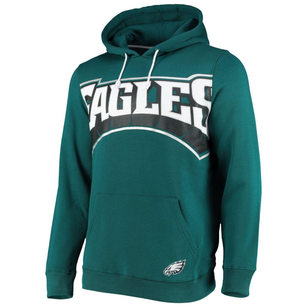 amfoo - Philadelphia Eagles BIG GRAPHIC NFL Hoodie teal
