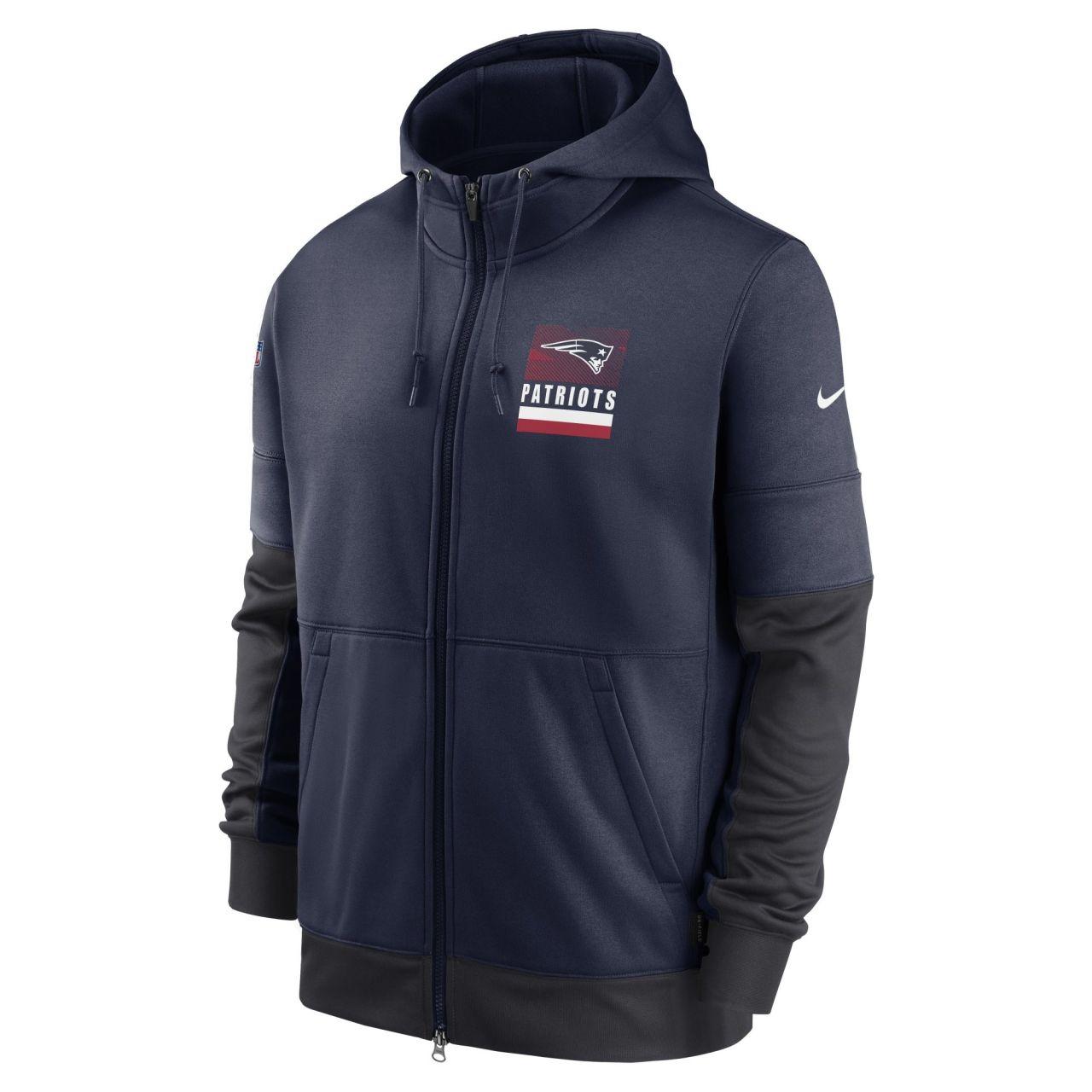 amfoo - Nike NFL Therma Zip Hoody - SIDELINE New England Patriots