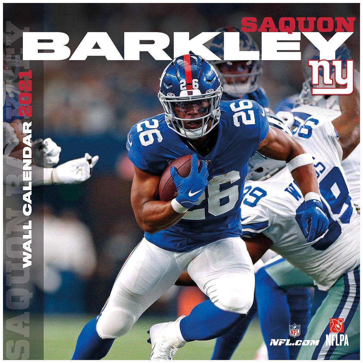 amfoo - NFL Wand-Kalender 2021 New York Giants Saquon Barkley