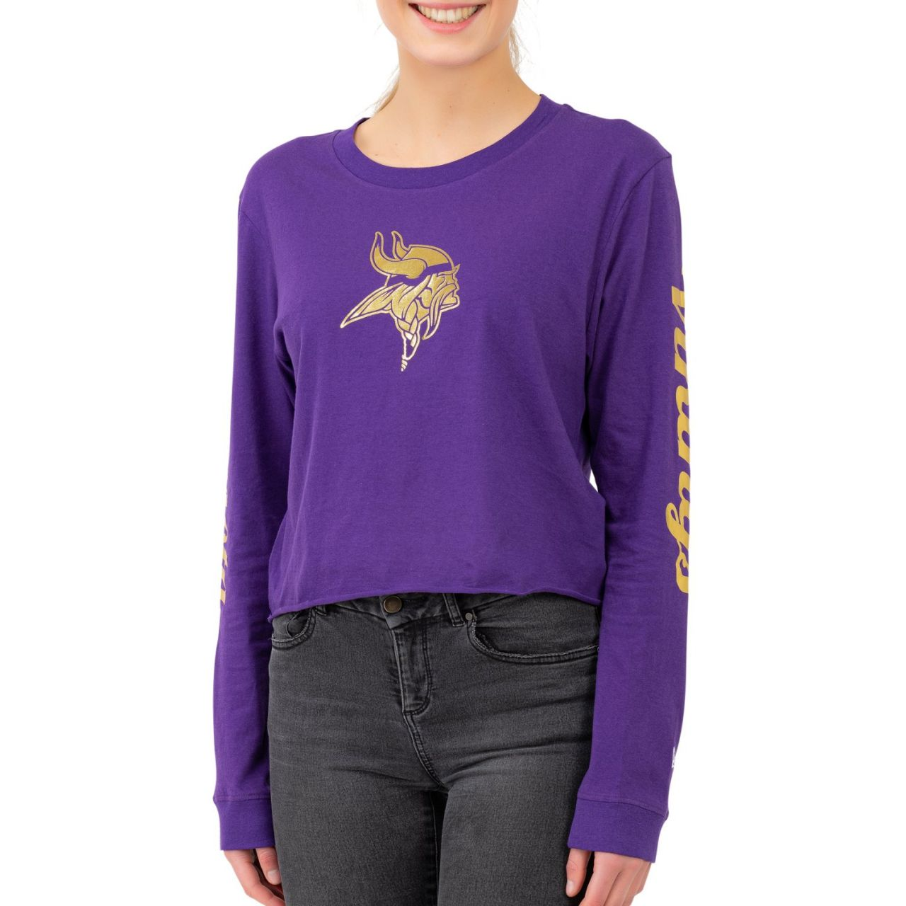 amfoo - New Era NFL Damen Cropped Longsleeve - Minnesota Vikings