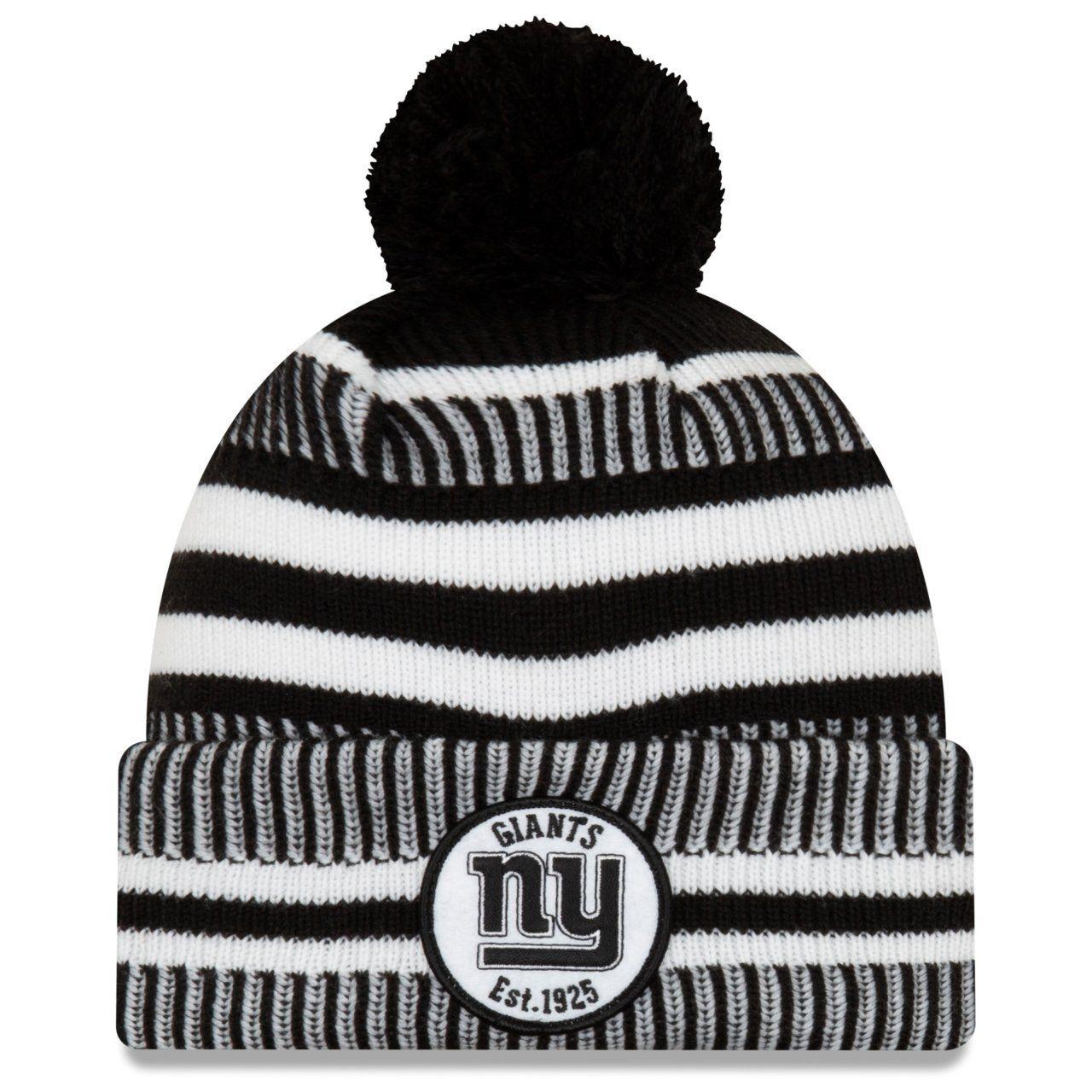 amfoo - New Era Sideline Black Home Bommel Mütze New York Giants