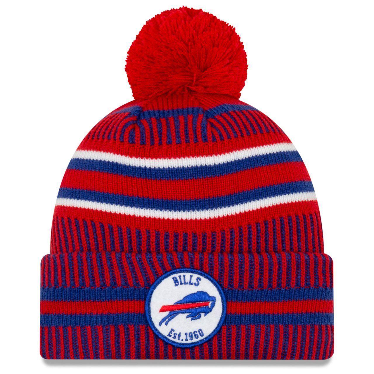 amfoo - New Era Sideline Home 2019 Bommel Mütze Buffalo Bills