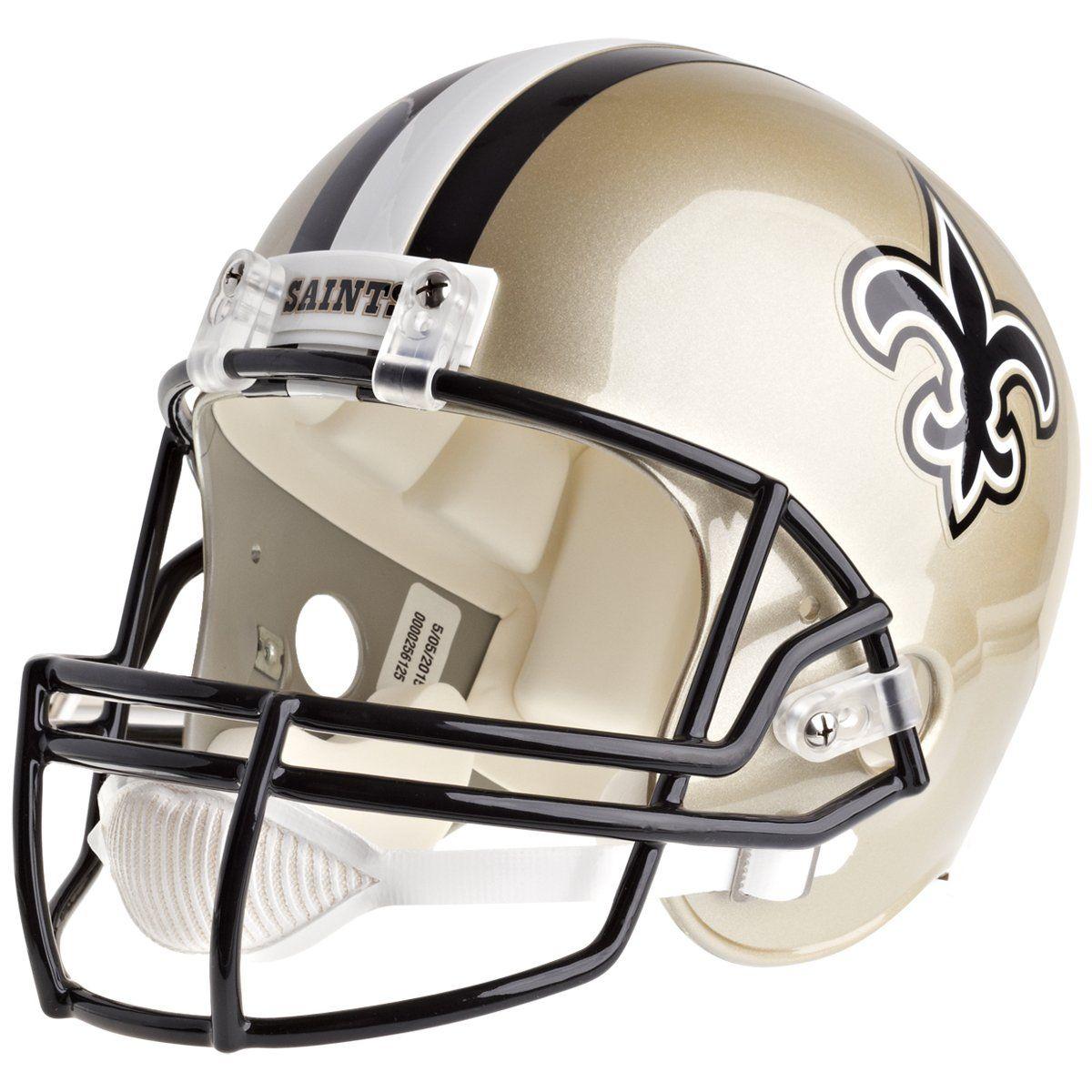 amfoo - Riddell VSR4 Replica Football Helm - NFL New Orleans Saints