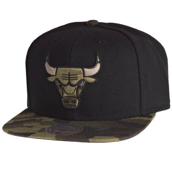 Mitchell & Ness Snapback Cap - CAMO Chicago Bulls schwarz