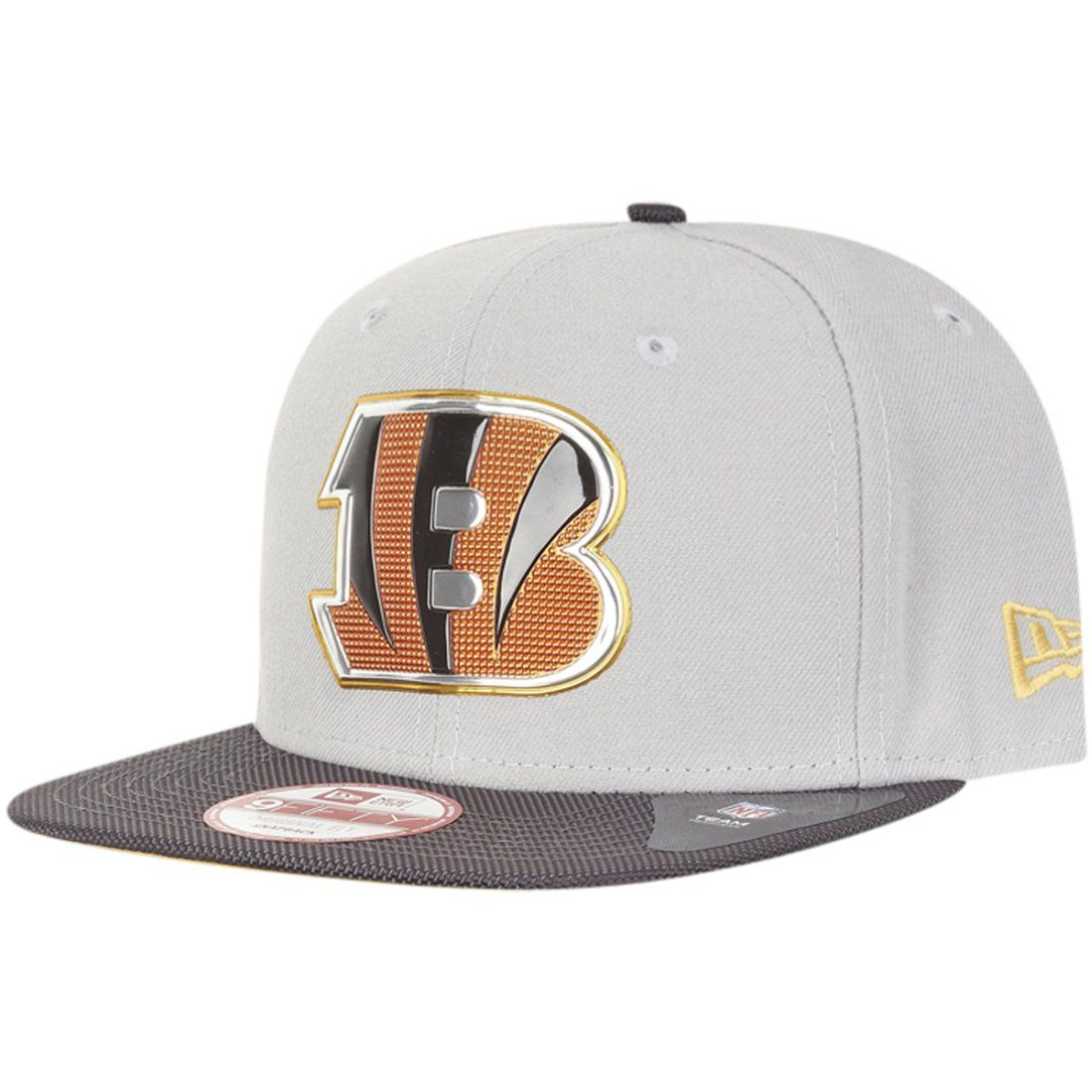 amfoo - New Era Snapback Cap - GOLD COLLECTION Cincinnati Bengals
