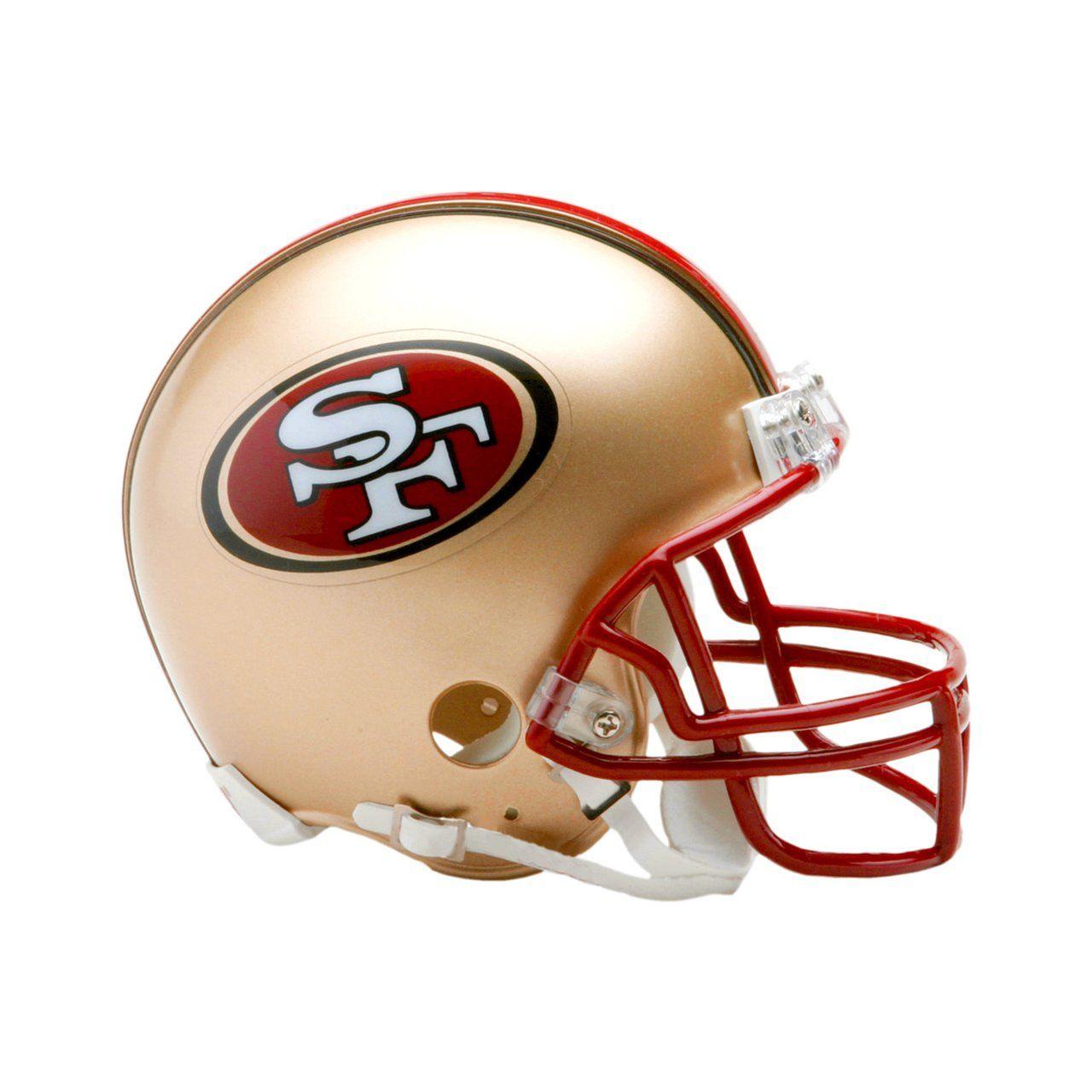 amfoo - Riddell VSR4 Mini Football Helm - San Francisco 49ers 96-08
