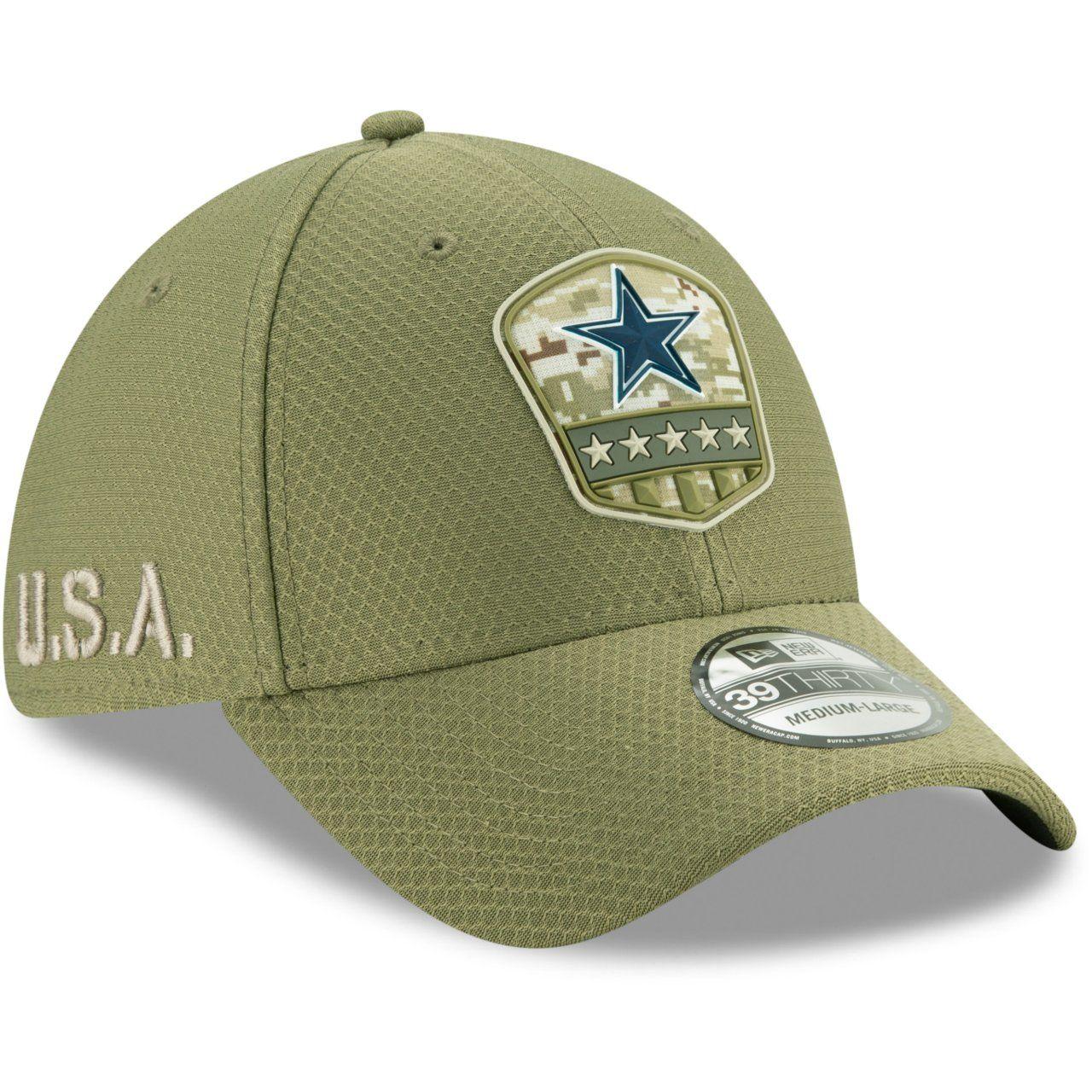 amfoo - New Era 39Thirty Cap Salute to Service Dallas Cowboys