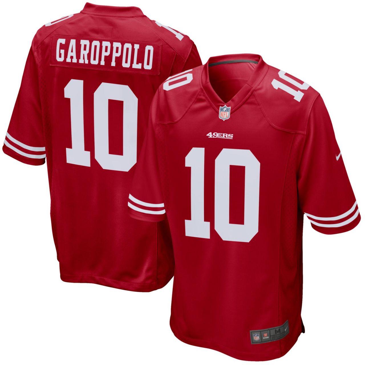 amfoo - Nike GAME Jersey San Francisco 49ers #10 Jimmy Garoppolo