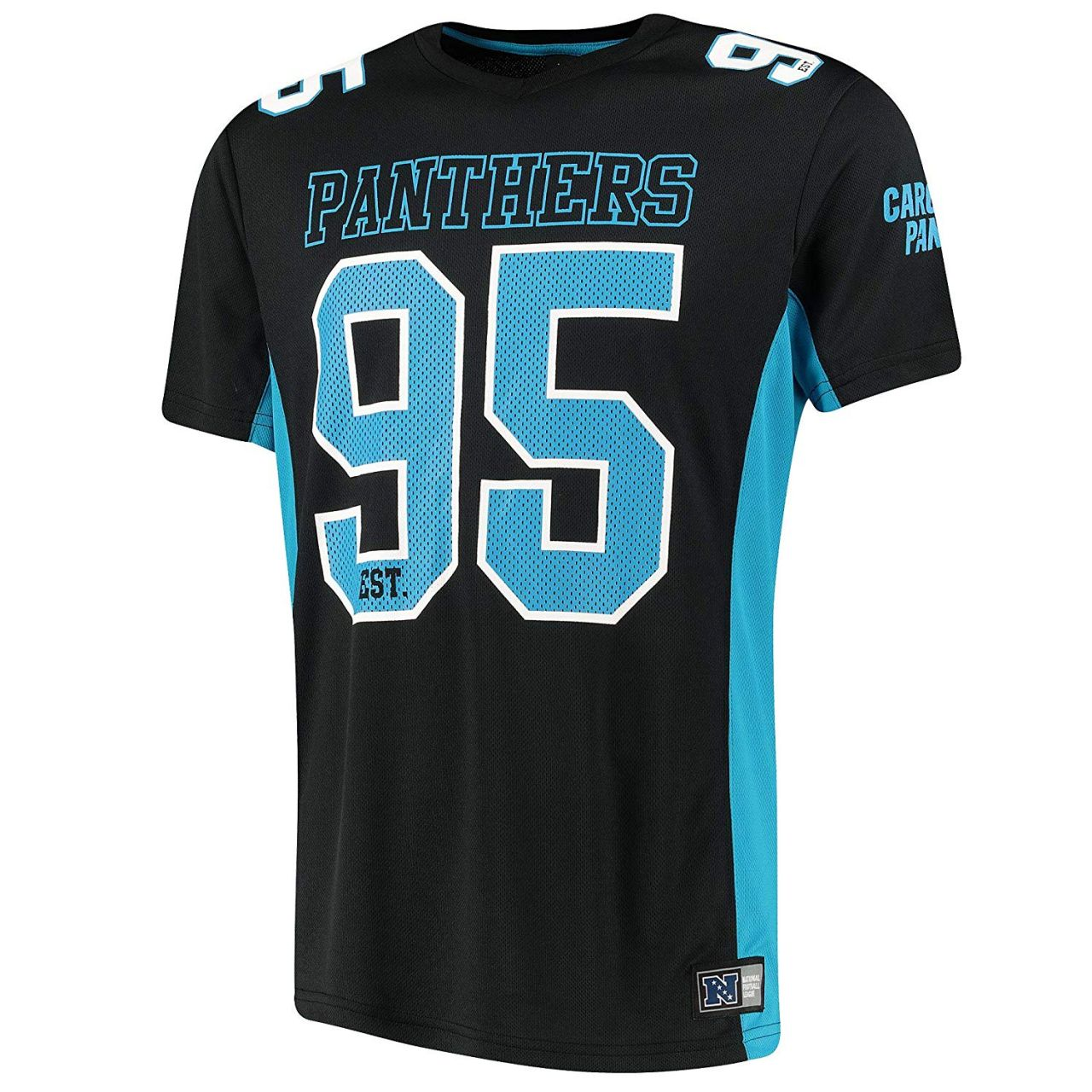 amfoo - Majestic Mesh Polyester Jersey Shirt - Carolina Panthers