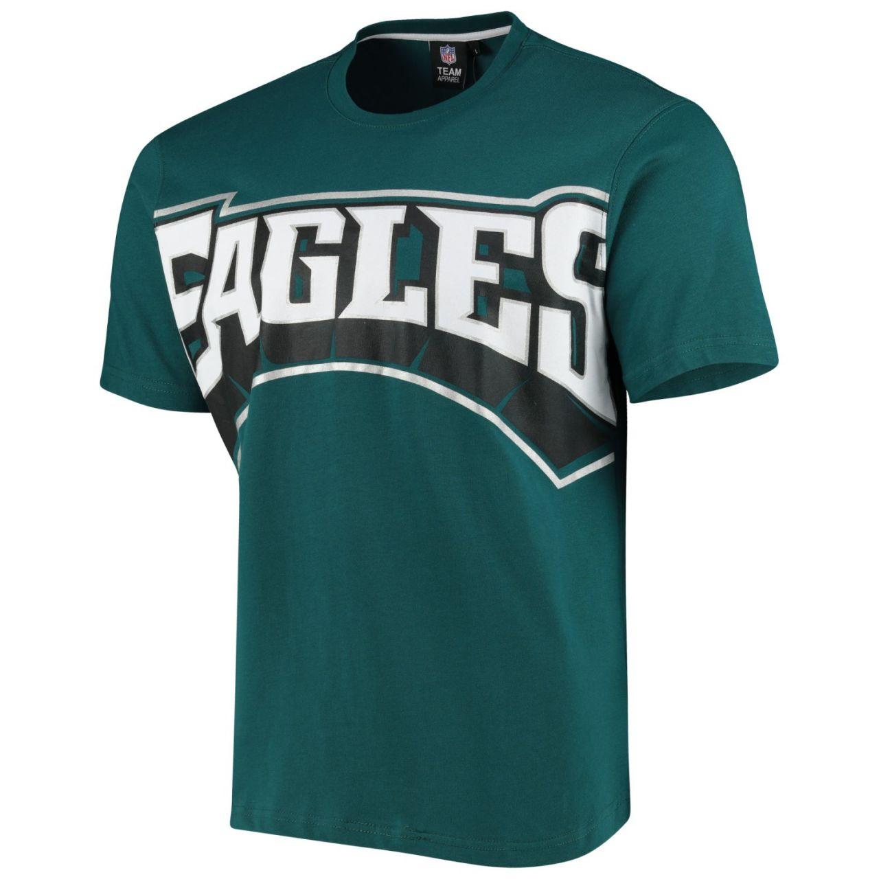 amfoo - Philadelphia Eagles BIG GRAPHIC NFL Shirt teal