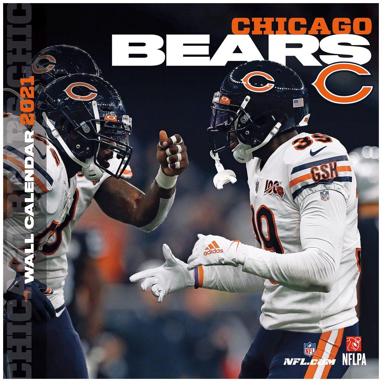 amfoo - Turner NFL 30x30cm Wand-Kalender 2021 Chicago Bears