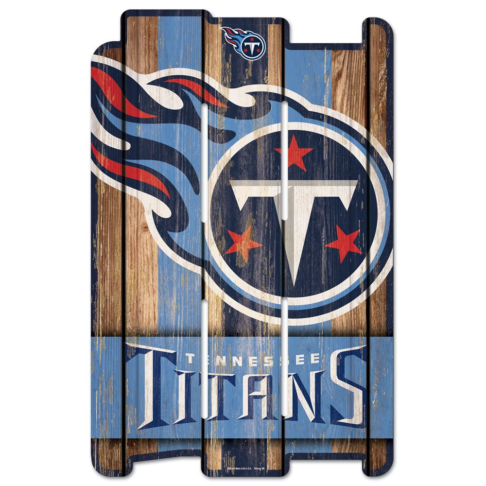 amfoo - Wincraft PLANK Holzschild Wood Sign - Tennessee Titans