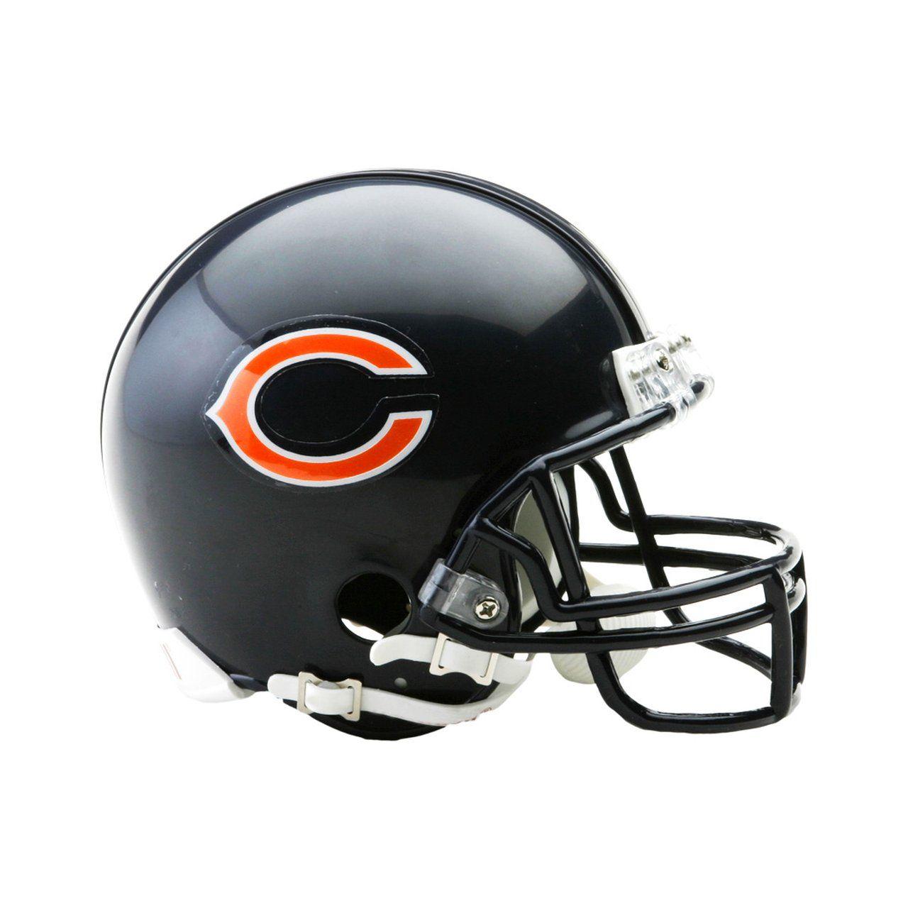 amfoo - Riddell VSR4 Mini Football Helm - NFL Chicago Bears
