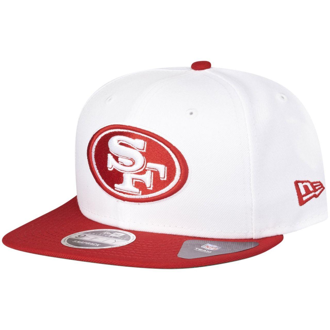 amfoo - New Era Original-Fit Snapback Cap - San Francisco 49ers weiß