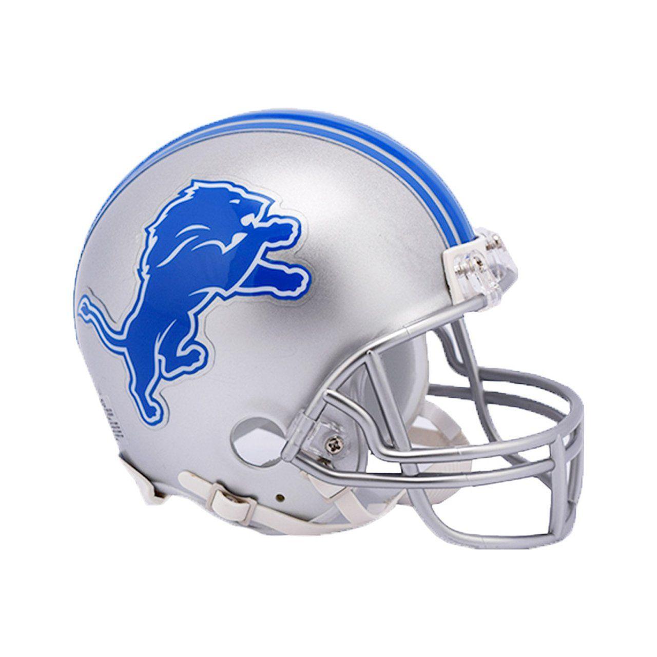 amfoo - Riddell VSR4 Mini Football Helm - NFL Detroit Lions